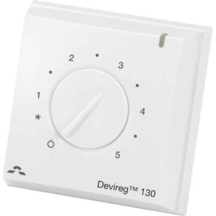 Терморегулятор DEVIreg™ 130 с датчиком пола, накладного монтажа 16А (белый) 140F1010