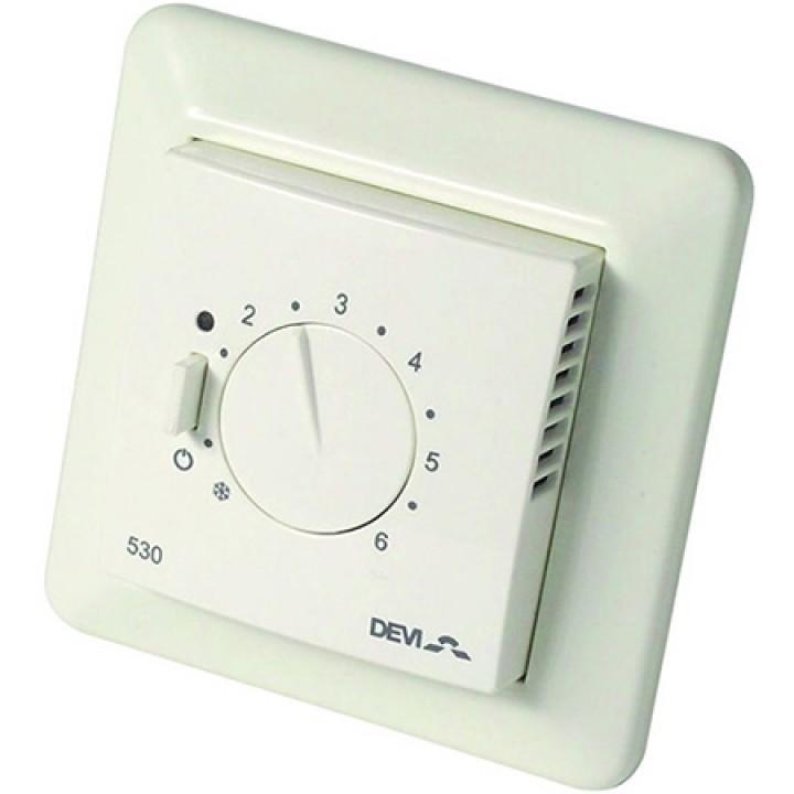 Терморегулятор DEVIreg™ 530 с датчиком пола 16А (белый) 140F1030