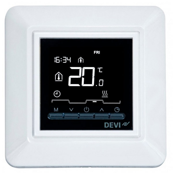 Терморегулятор DEVI DEVIreg™ Opti с датчиком пола и воздуха 16А (белый) 140F1055