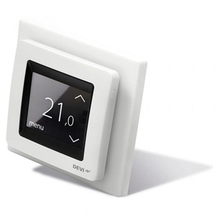 Терморегулятор DEVIreg™ Touch (сенсорный) с датчиком пола и воздуха 16 А, белый (140F1064)