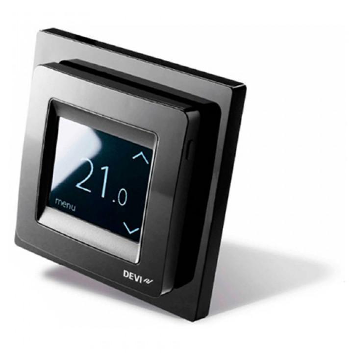 Терморегулятор DEVIreg™ Touch (сенсорный) с датчиком пола и воздуха 16 А, черный (140F1069)