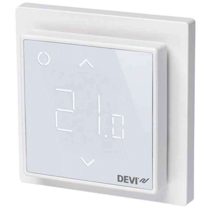Терморегулятор DEVIreg™ Smart с Wi-Fi интеллектуальный 16А (полярно-белый) 140F1140