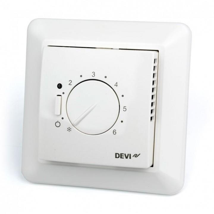 Терморегулятор DEVIreg™ 532 с датчиком пола и воздуха 16А (белый) 140F1037
